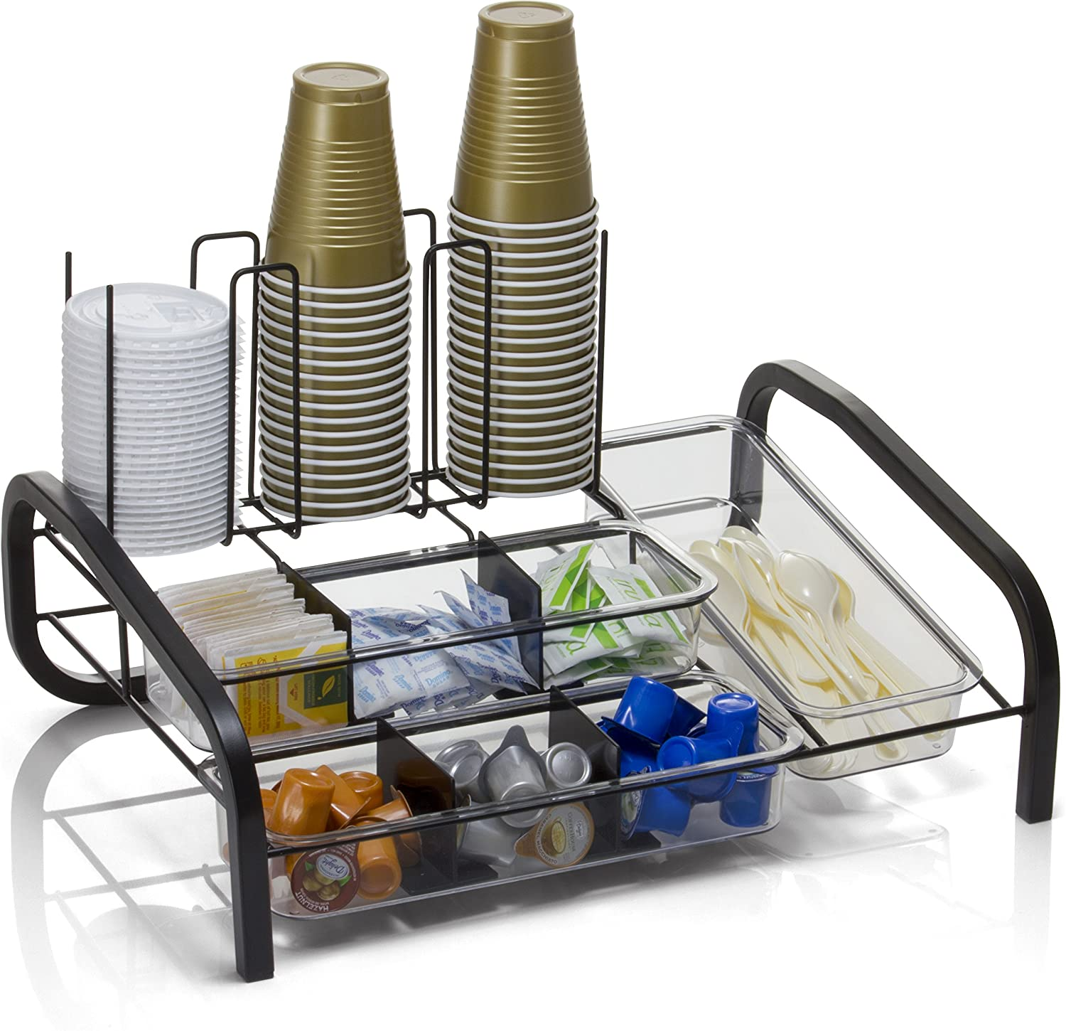 Officemate BreakCentral Multi Breakroom Organizer and Coffee Pod Holder, Black (28002)