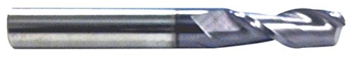 HHIP 5806-1875 AlTiN-Coated Solid Carbide Single End Mill, 2 Flute, 3/16