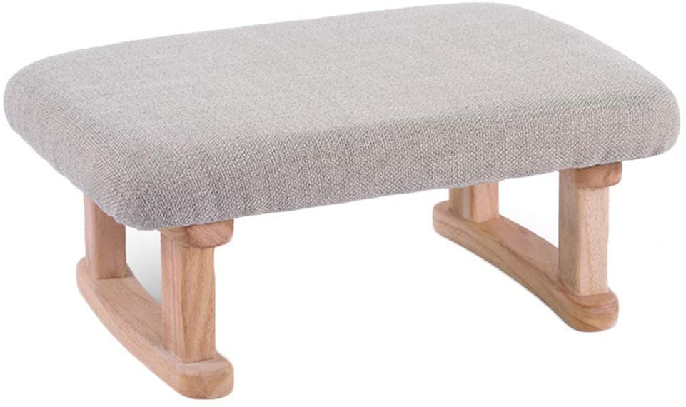 FCSFSF Footstool Household Paulownia Rectangle Japanese Style Strike Prevention Sofa Stool (Color : A)