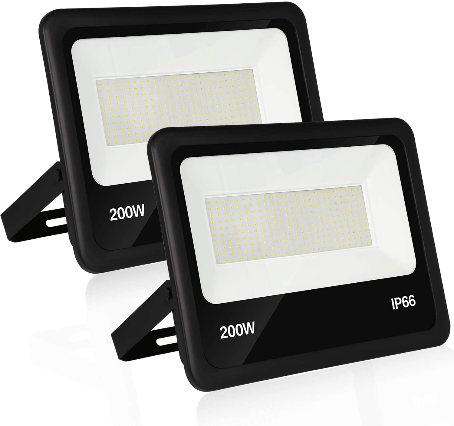Hykolity 200W LED Security Flood Light with Photocell,100-277V 22000lm Dusk to Dawn Outdoor Commercial LED Area Light, Weatherproof Parking Lot Lighting Fixture,5000K