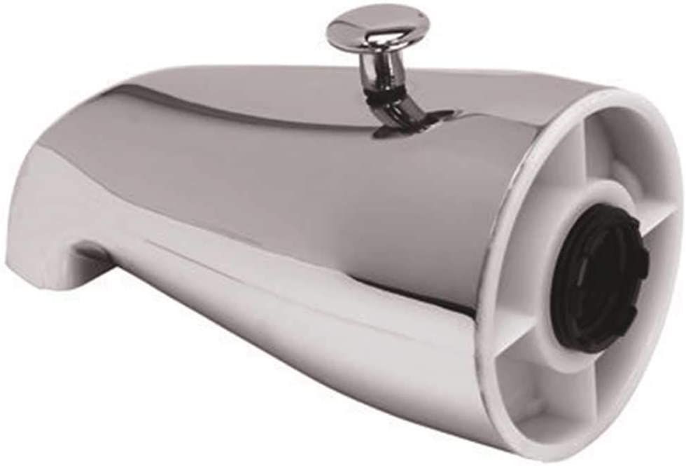 PROPLUS GIDDS-7921 Bathtub Spout With Top Diverter, Chrome, 3/4-Inch Ips