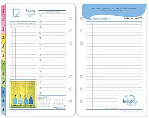FranklinCovey Compact Her Point of View Daily Ring-Bound Planner - Jan 2021 - Dec 2021