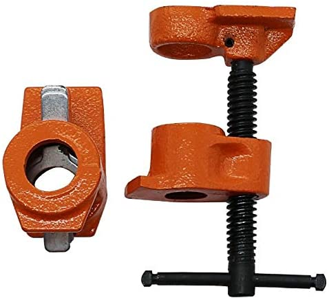 Ochoos ing 1/2 inch Heavy Duty Pipe Clamp Woodworking Wood Gluing Pipe Clamp Pipe Clamp Fixture Carpenter Woodworking Tools