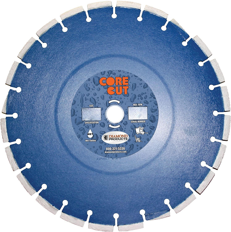 Diamond Products Core Cut 79744DIA Pro-Cured Concrete Diamond Blade, 14-Inch x 0.375-Inch x 1-Inch, Blue