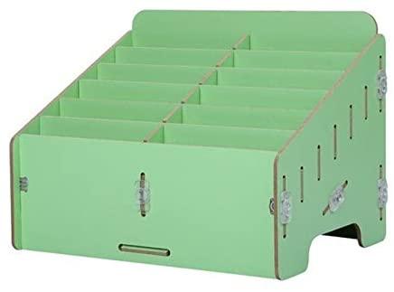 Multifunctional Wooden Storage Box Tools Box For Electronic Mobile Phone Repair Kit Caixa De Ferramentas (Color : Green)