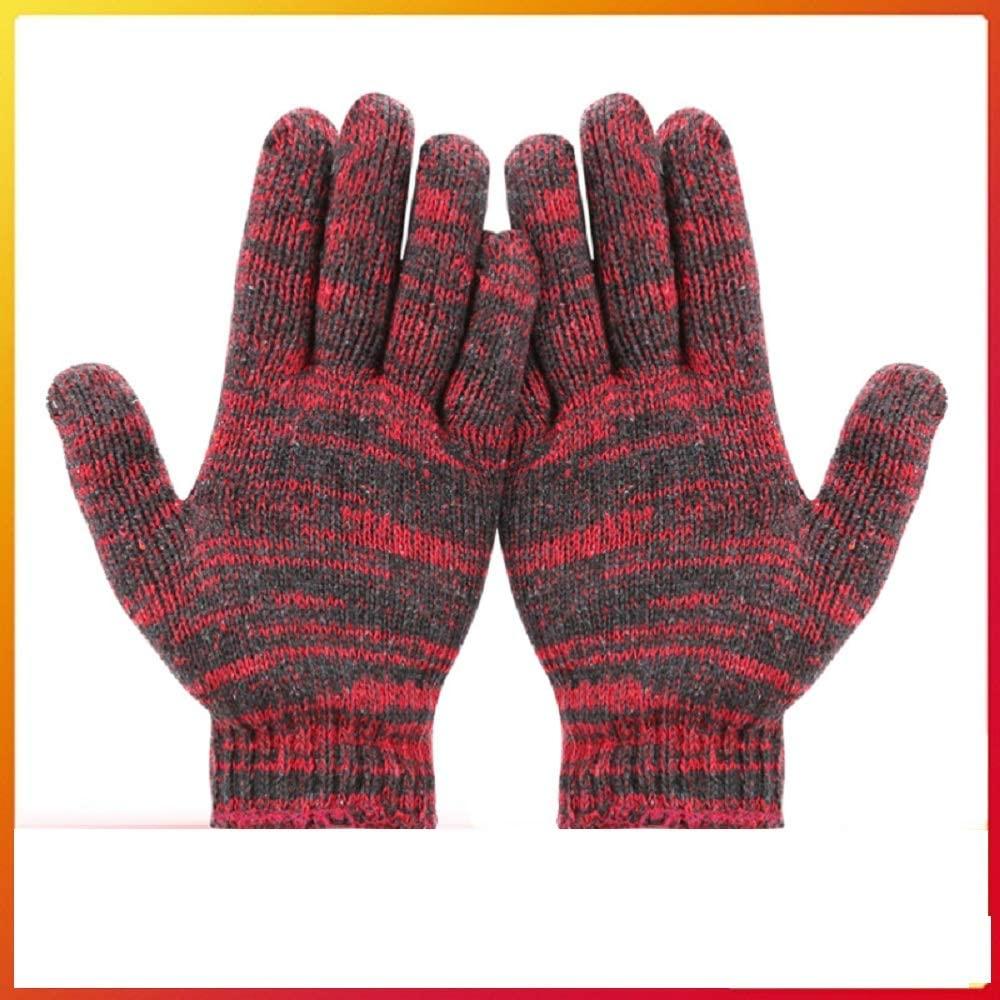 Nogewul Glove touch screen fingertip extra grip nylon work gloves, men and women (black, small)