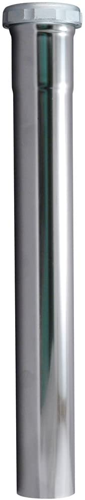 Plumb Pak PP13-12CP Extension Tube, 1-1/2 in Dia X 12 in L, Slip Joint, 22 Ga, Chrome Plated, Brass