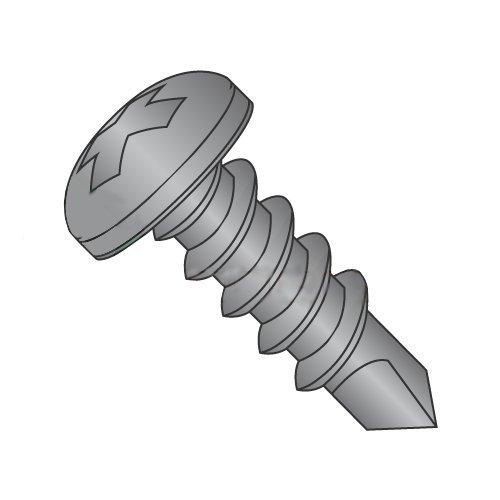 #6 x 1 Self-Drilling Screws/Phillips/Pan Head/Steel/Black Oxide/#2 Drill Point (Carton: 10,000 pcs)