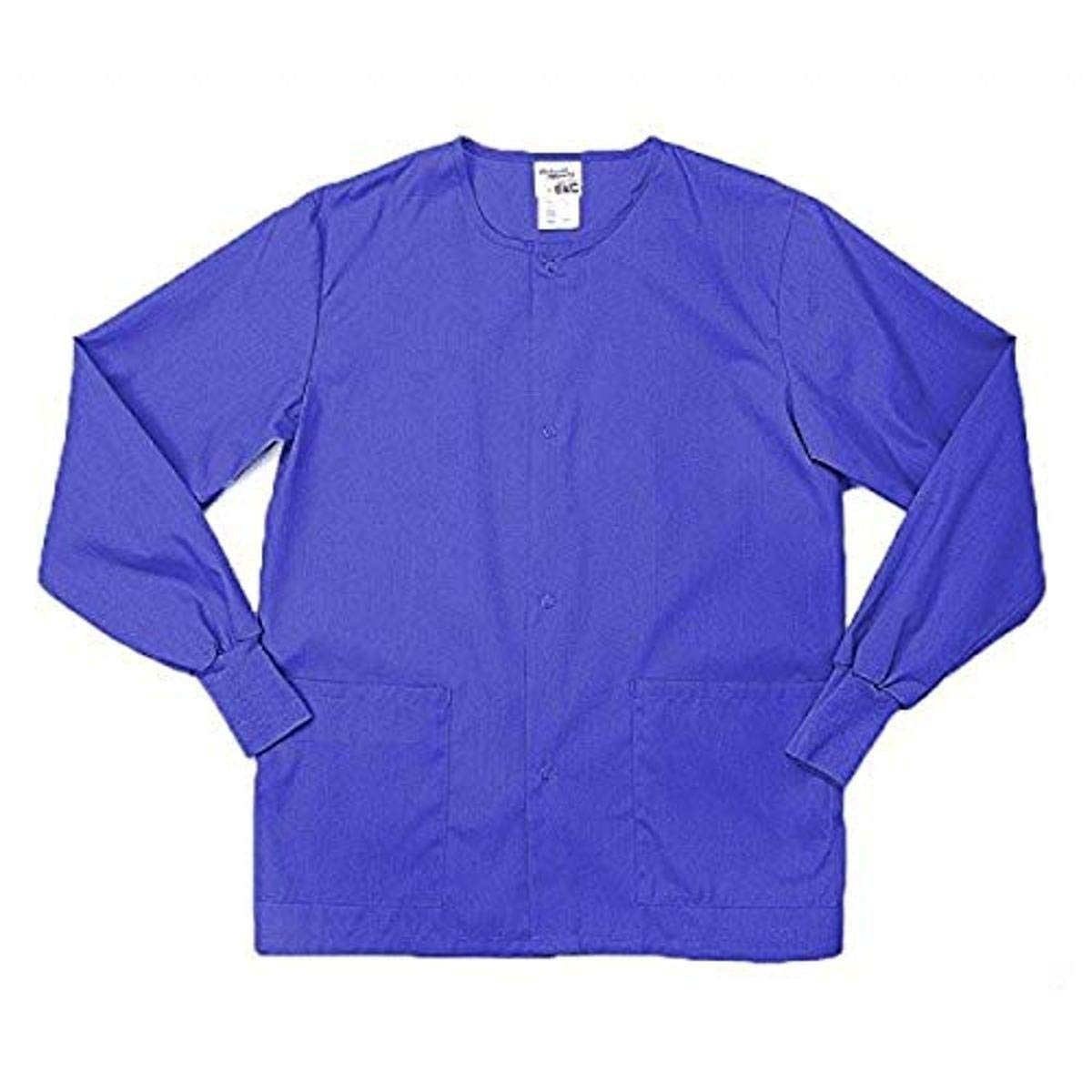 Pinnacle Textile SW68F 4.25 OZ 65/35 Polyester/Cotton, Female Warm UP JACKET-4X-Large-Royal Blue
