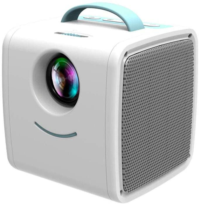 ZXK Household Portable Mini Portable Projector 1080 Children Projector Projector Supports HD 1080P (Color : Blue)