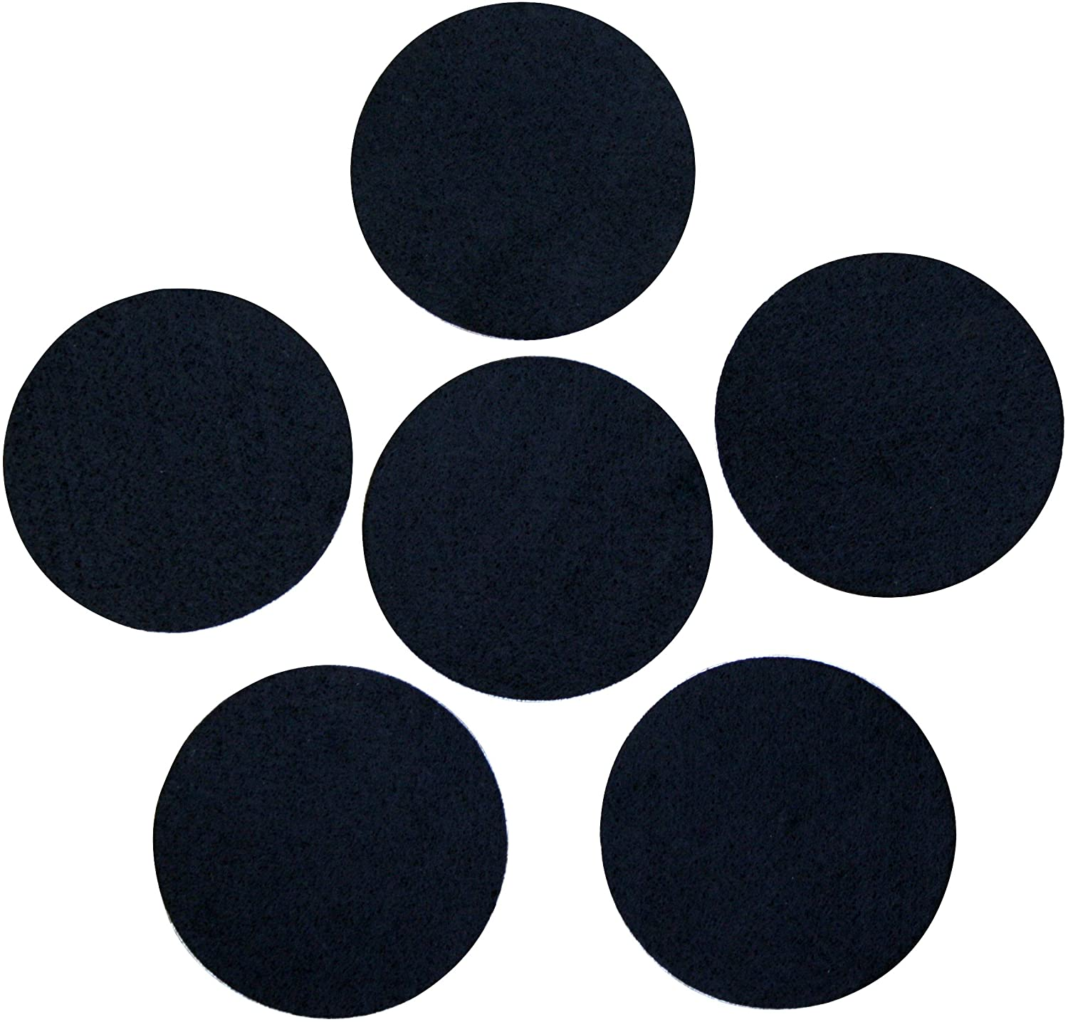 Black Adhesive Felt Circles 2 inch, 3, 4 or 5 Wide, Self Stick, Die Cut; DIY Projects, Professional Craft Finishing (Single Package of 20, 3 Inch Circles)