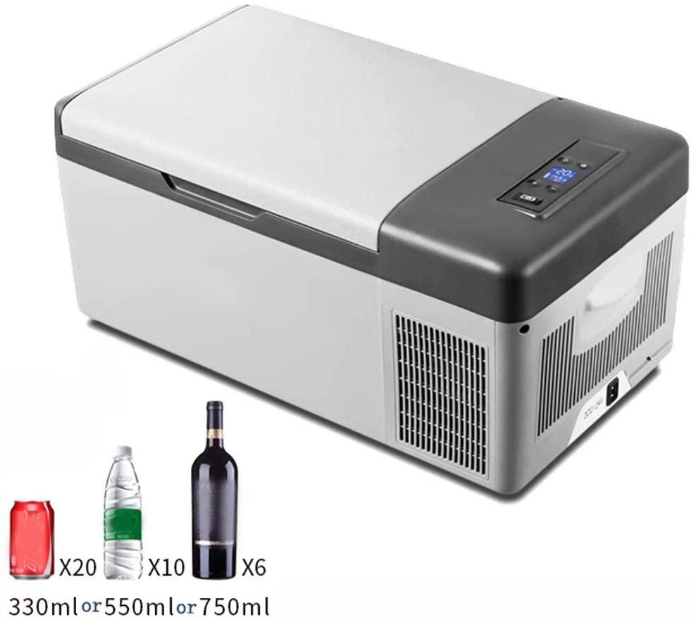 Car refrigerator Small Mini Fridge Cooler & Warmer,15 Litre,Compact,Portable & Quiet,AC+DC Power Compatibility Options,Dual-core Refrigeration,570330292mm