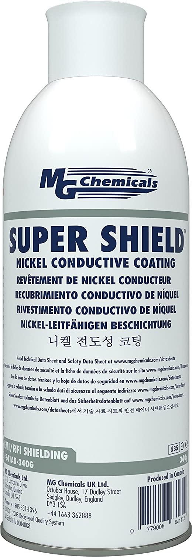 MG Chemicals 841AR Super Shield Nickel Conductive Coating, 12 oz Aerosol Spray, Model:841AR-340G