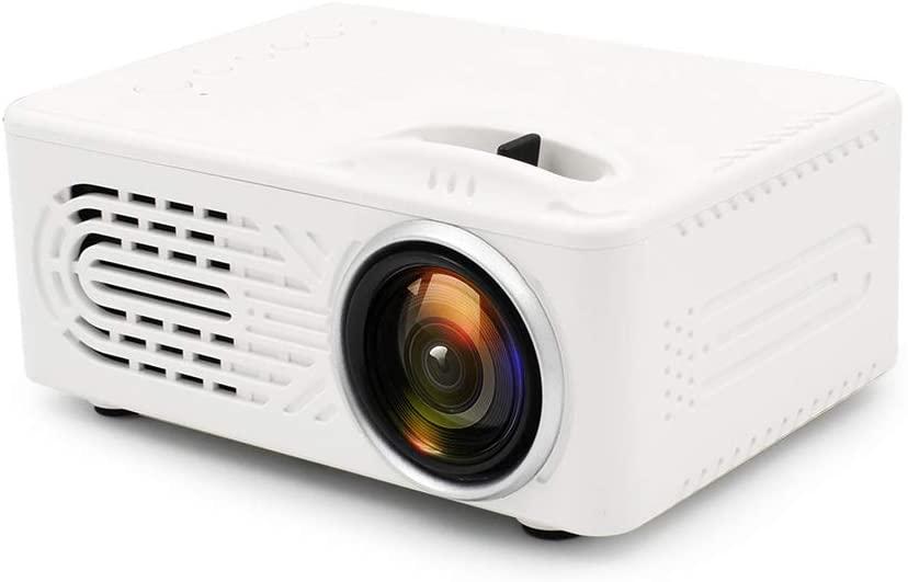 LFJNET (Upgraded Version) Mini Projector LCD LED Portable Projector Home Theatre Cinema Video Media Player White AU Plug
