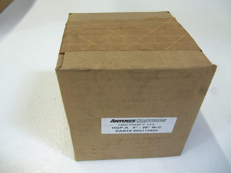 ANTUNES CONTROLS 803112602 125-700 MM, Pressure Switch, HIGH Pressure, OR 5-28IN W.C, Model:HGP-A