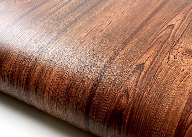 ROSEROSA Peel and Stick PVC Reclaimed Wood Instant Self-Adhesive Wallpaper Covering Countertop Backsplash Antique Panel (PG2135-12 : 2.00 Feet X 6.56 Feet)