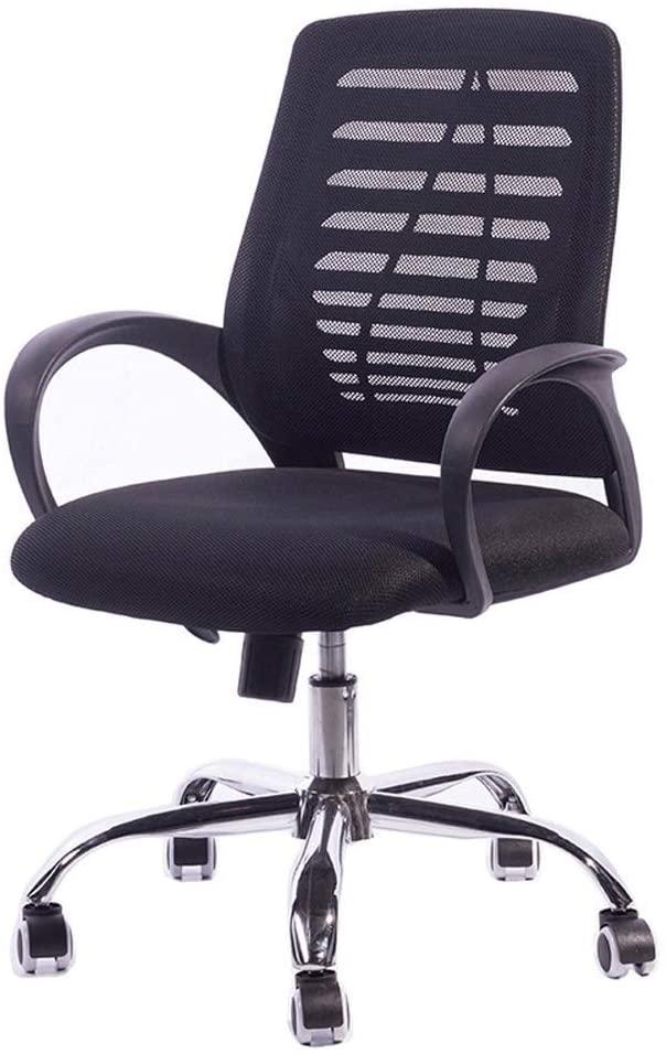 KMMK Desk Chairs,Ergonomic Office Chair Lumbar Support for Office Chair Swivel Desk Chair, Mesh Office Desk Chair Computer Task Chair with Armrest Black