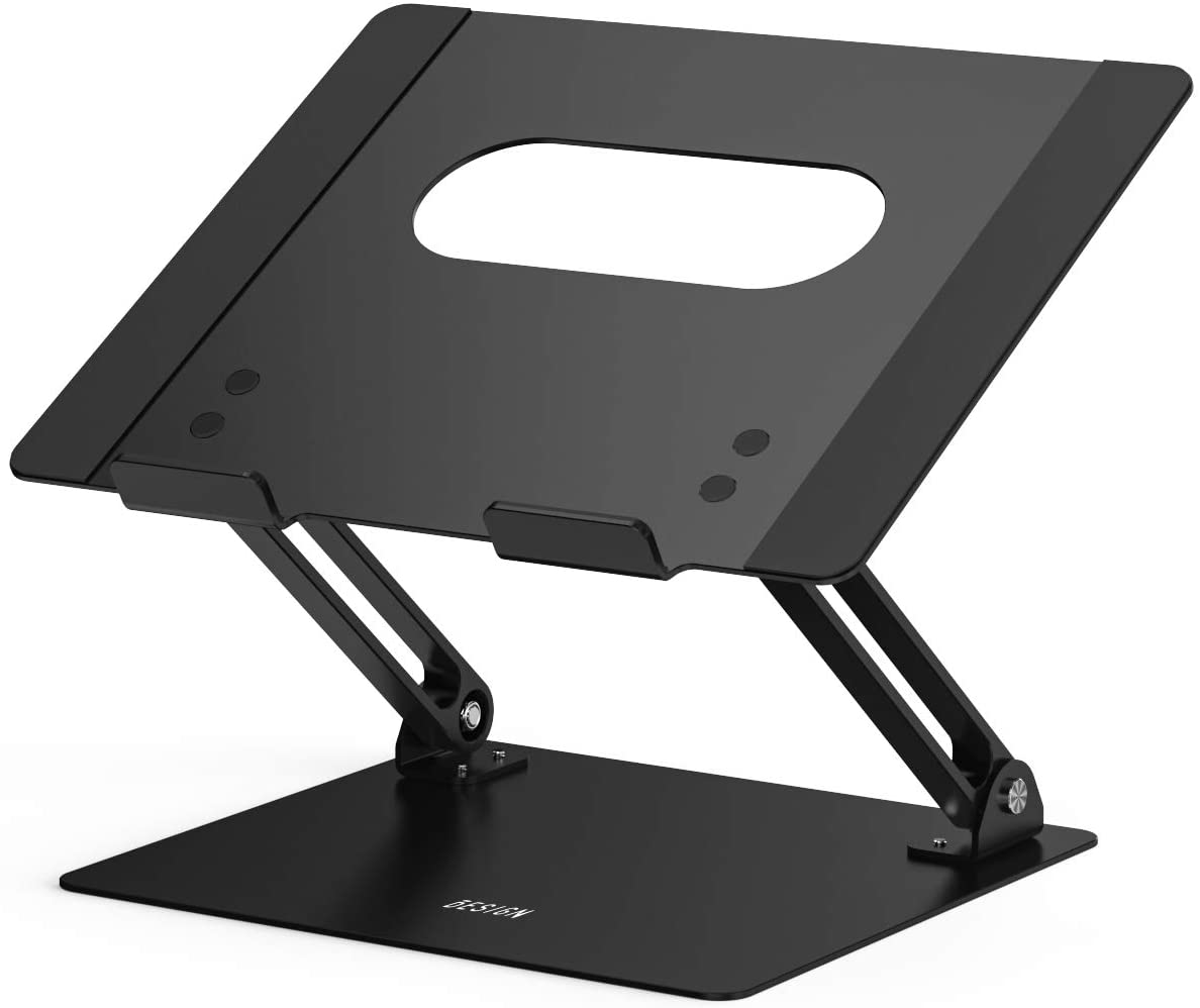 Besign LS10 Aluminum Laptop Holder, Ergonomic Adjustable Notebook Stand, Riser Holder Computer Stand Compatible with MacBook Air Pro, Dell, HP, Lenovo More 10-15.6