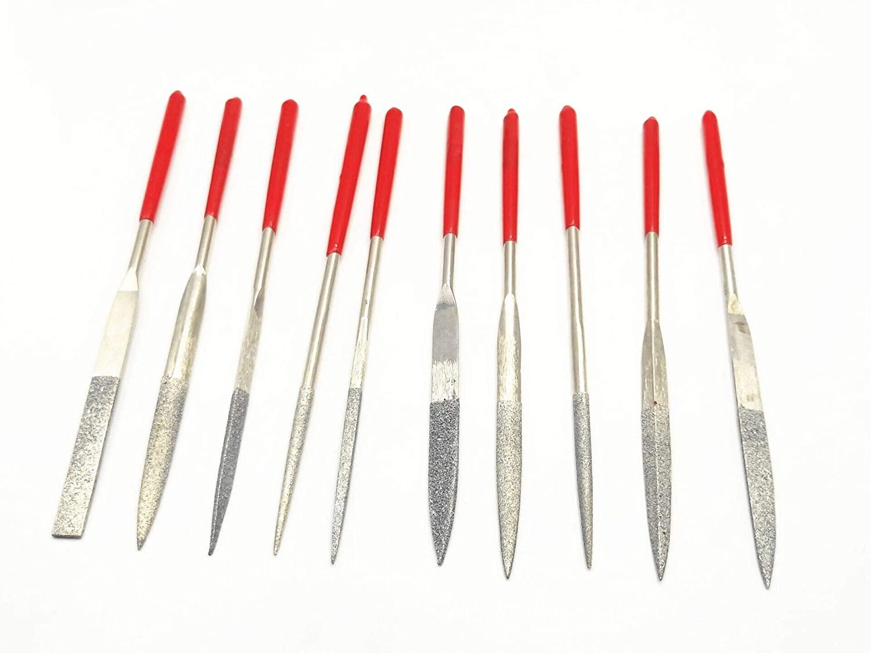 10-Piece Mini Diamond Needle File Set Diamond Needle File Set with 150 Grit