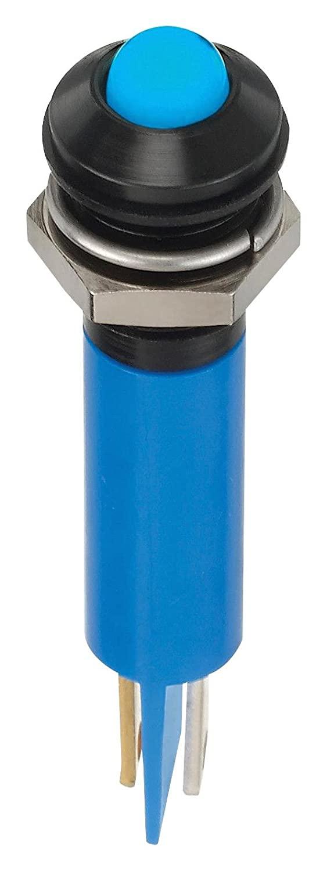 APEM Q8P1BXXB24E LED Panel Mount Indicator, Blue, 24 VDC, 8 mm, 20 mA, 1.6 cd, IP67
