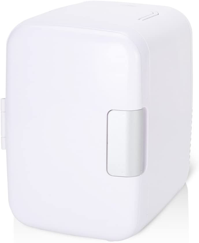 ROSEBEAR Mini Fridge, 12V 4 Liters Portable Mini Refrigerator Cooler and Warmer with AC/DC Power Cords, Super Quiet In-Vehicle Freezer