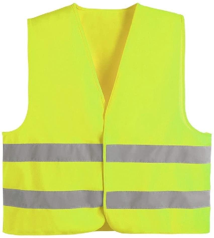 Safety Vest High Visibility Vest Safety Vest, Fluorescent Yellow High Visibility Vest Lightweight Breathable Warning Vest Night Overalls Reflective Workwear Vest Child Safety Vest