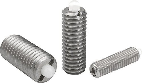 Kipp 03055-A6 Stainless Steel Pin and Body Spring Plungers, Pin Style, Hexagon Socket, Standard End Pressure, Inch, 5/8-11 Thread (Pack of 5)