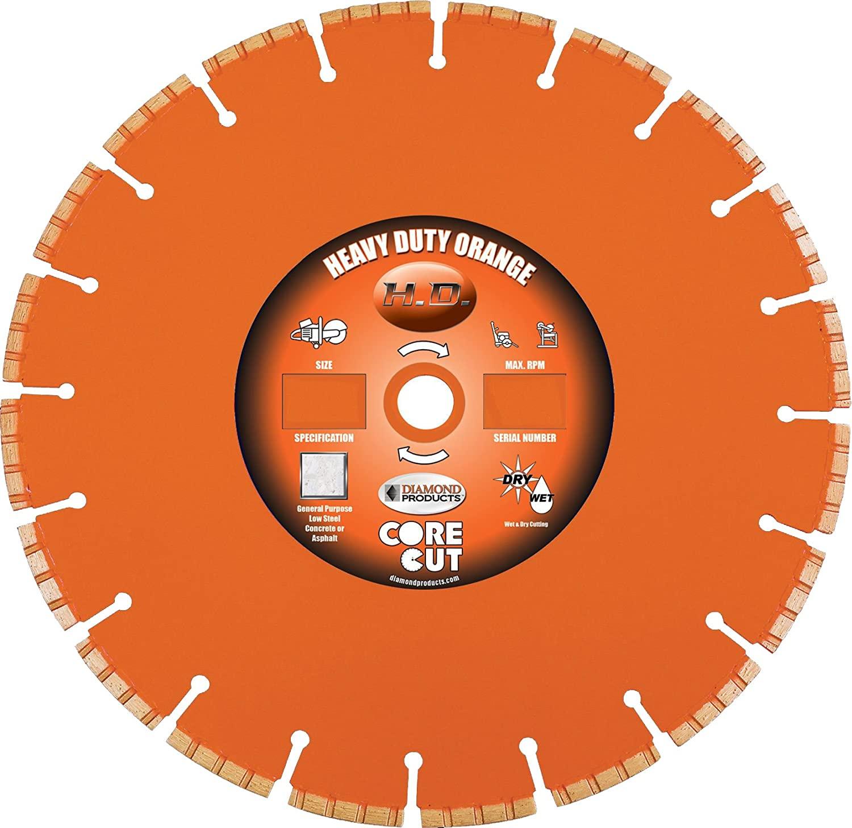 Diamond Products Core Cut Diamond Product 35586 Heavy Duty Orange Segmented High Performance Turbo Diamond Blade 7-Inch x .095 x 7/8-Inch