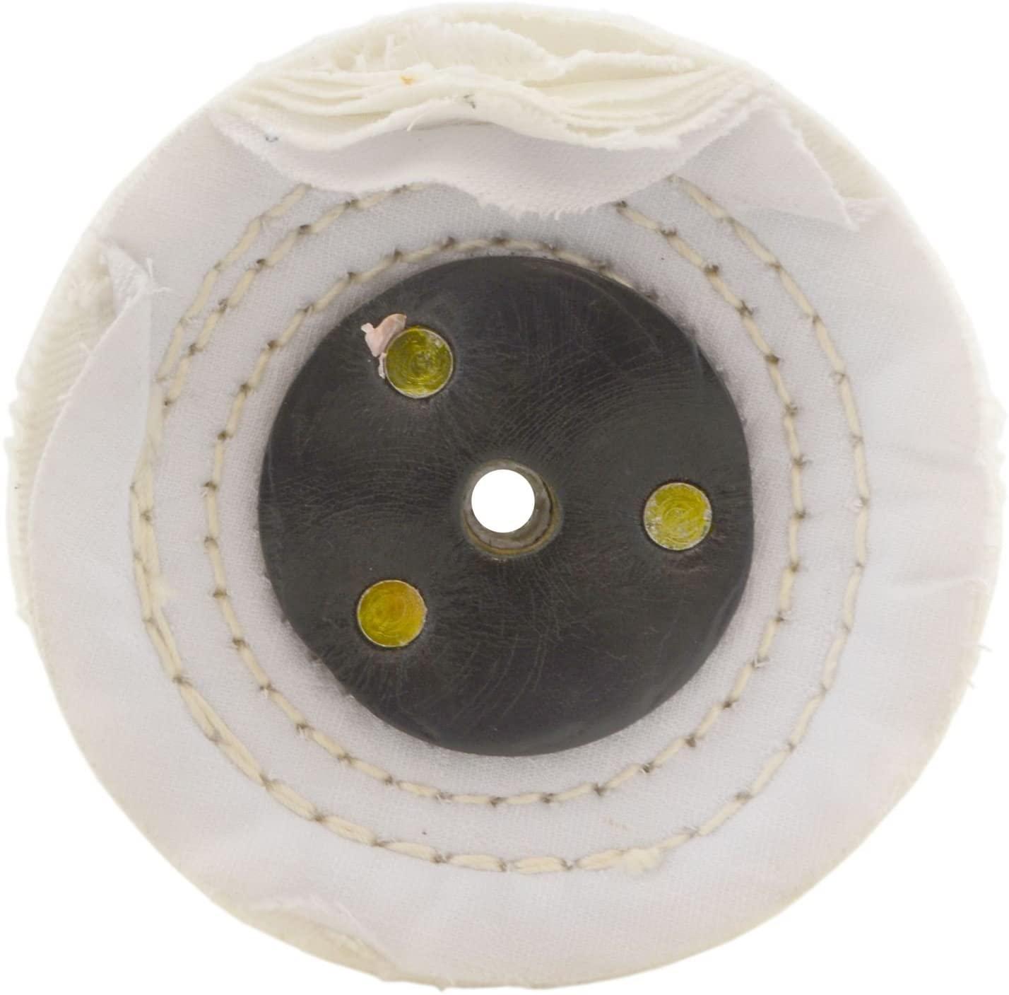 White Close Stitched Metal Polishing Buffing Mop 4