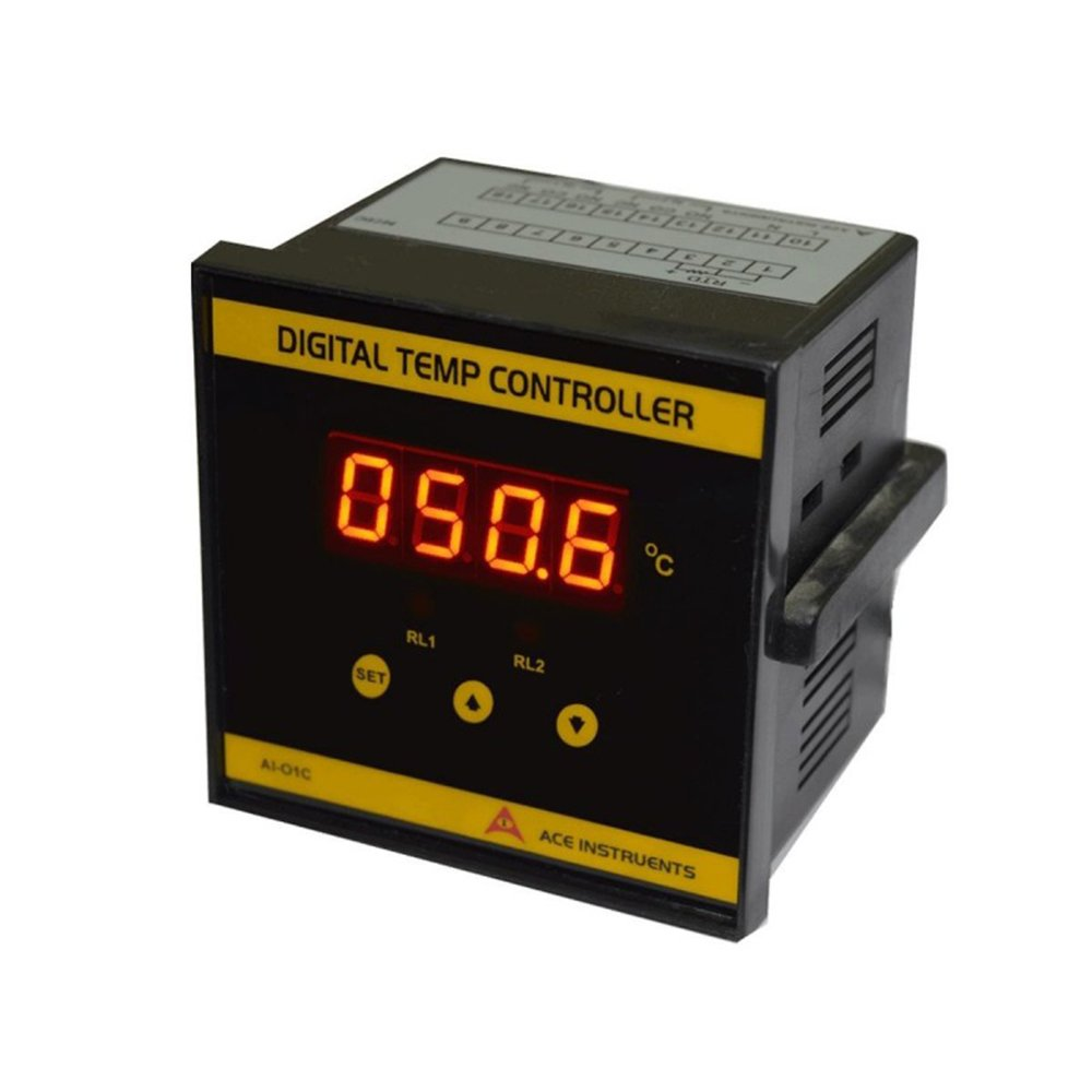 Instrukart Digital Temperature Controller (Pack of 2) for Pharma Clean Room/AHUs/Biotechnology/HVAC/Blood Banks/Labs.