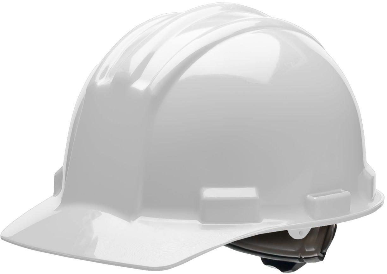 Bullard 51GGR Standard Series Cap Style w/Rain Trough Hard Hat, 4 Point Ratchet Suspension, Poly Brow Pad, Gull Grey, One Size
