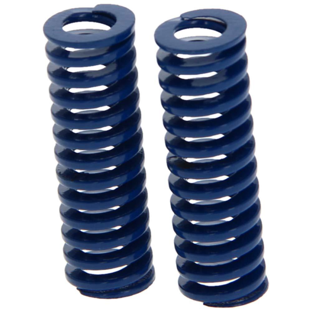 MroMax 10mm OD 30mm Long Spiral Stamping Light Load Compression Mould Die Spring Blue 2Pcs