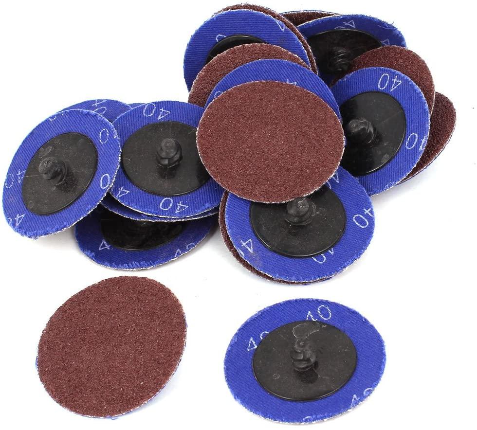uxcell Sander 50mm Dia 40 Grit Sandpaper Sanding Polishing Discs Wheel 20pcs