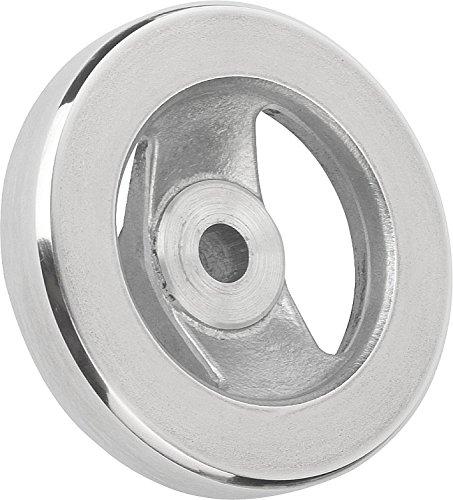 Kipp 06277-0250XCR Aluminum 2 Spoke Hand Wheel Without Handle, 250 mm Diameter, 0.750