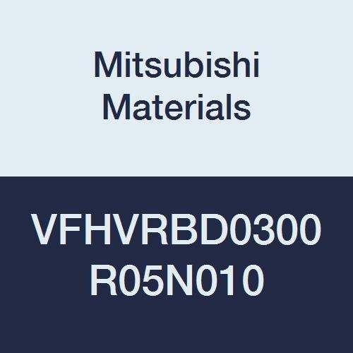 Mitsubishi Materials VFHVRBD0300R05N010 VFHVRB Series Carbide Impact Miracle Corner Radius End Mill, Short, 4 Irregular Helix Flutes, 3 mm Cut Dia, 0.5 mm Corner Radius, 3 mm LOC, 10 mm Neck Length