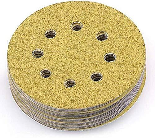 WALLER PAA 100PCS 5 Inch Sanding Disc Dustless Hook-and-Loop Sander Paper 60 Grit Sandpaper