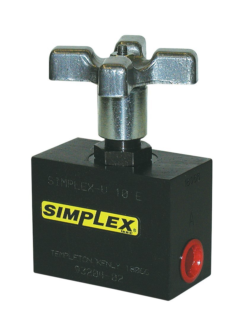 Simplex V10E Steel Check Valve for Hydraulic Pumps and Cylinders, 10,000 PSI, Black