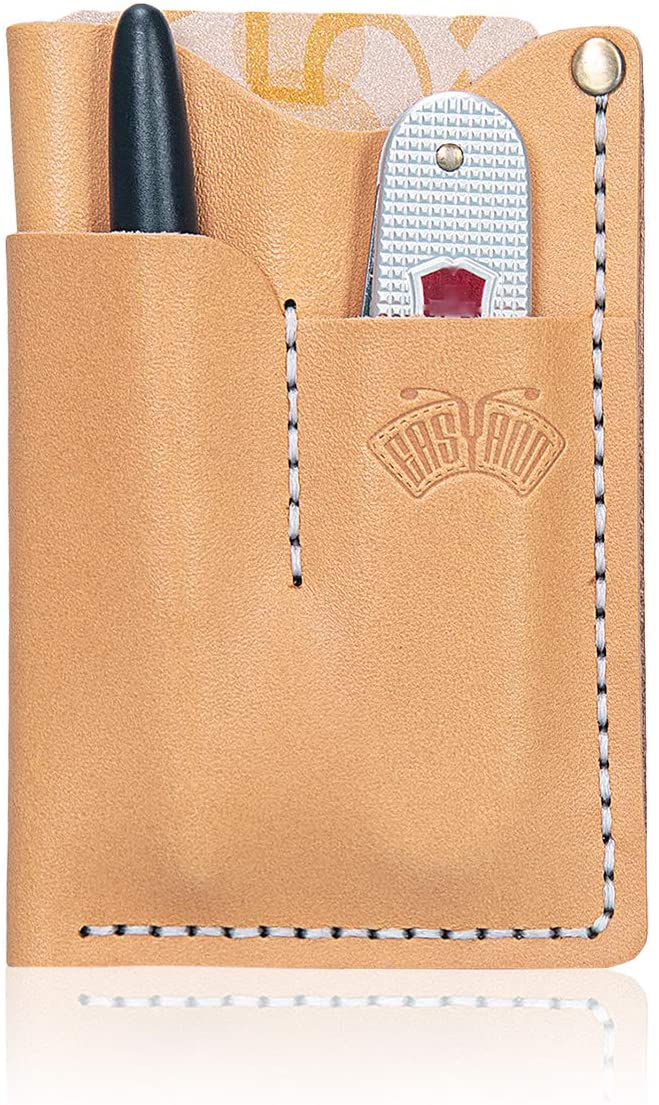EASYANT Handmade Vegetable Tanned Leather Holsters EDC Pocket Wallets Tool Organizer