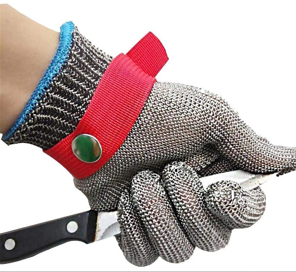 Cut Resistant Gloves, Stainless Steel Wire Butcher Glove High Performance Level 5 Protection