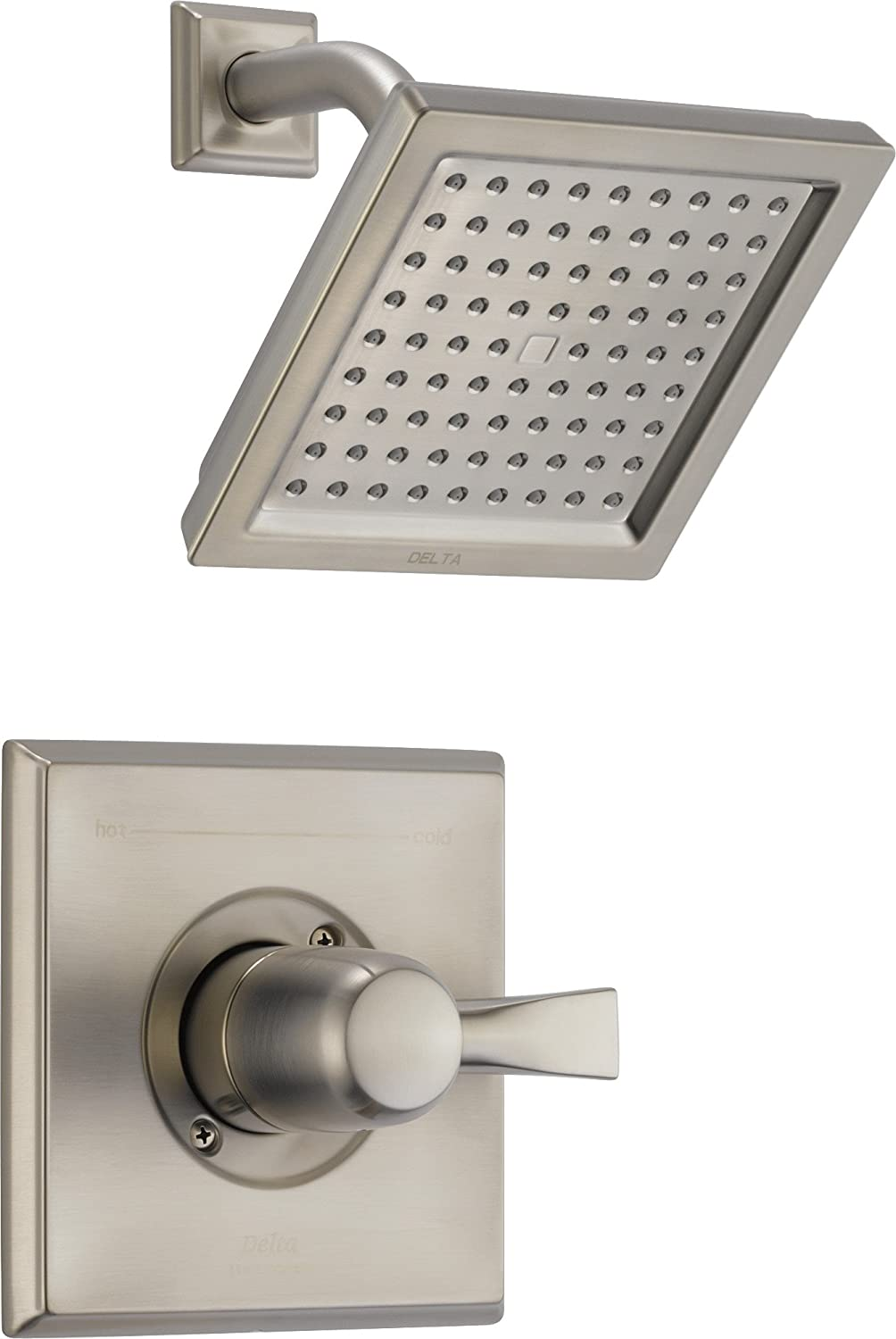 Delta Faucet Dryden 14 Series Single-Function Shower Trim Kit with Single-Spray Touch-Clean Shower Head, SpotShield Stainless T14251-SP (Valve Not Included)