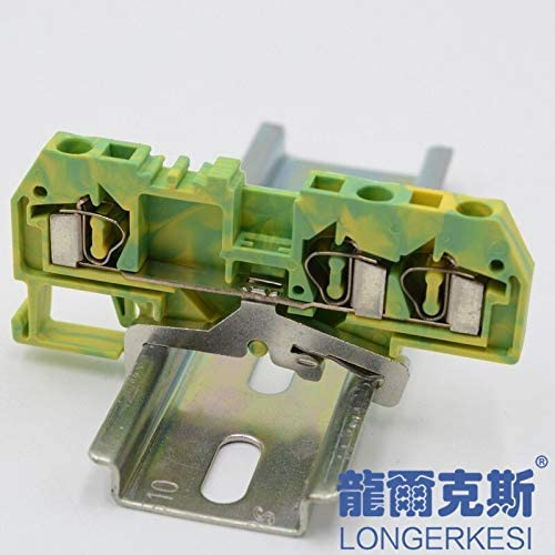 Davitu Terminals - 3-conductor ground(PE) terminal block FJ1-4/D3 replaces WAGO281-687 Return Pull Type Din Rail Spring Cage Connection terminal
