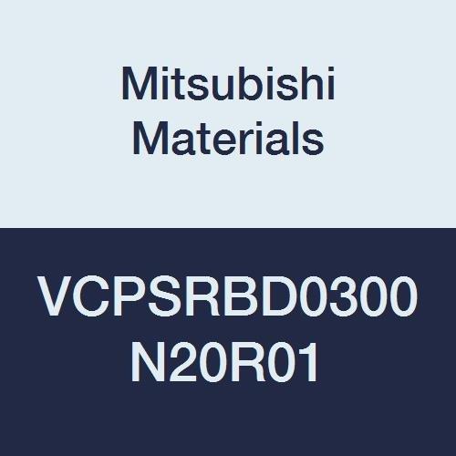 Mitsubishi Materials VCPSRBD0300N20R01 Series VCPSRB Carbide Miracle End Mill, Short Flute, High Precision, Radius Shape, 4 Flute, 3 mm Cutting Dia, 0.1 mm Corner Radius, 3 mm LOC, 20 mm Neck Length