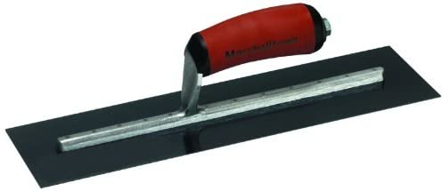MARSHALLTOWN The Premier Line MXS245BD 24-Inch by 5-Inch Blue Steel Finishing Trowel with Curved DuraSoft Handle