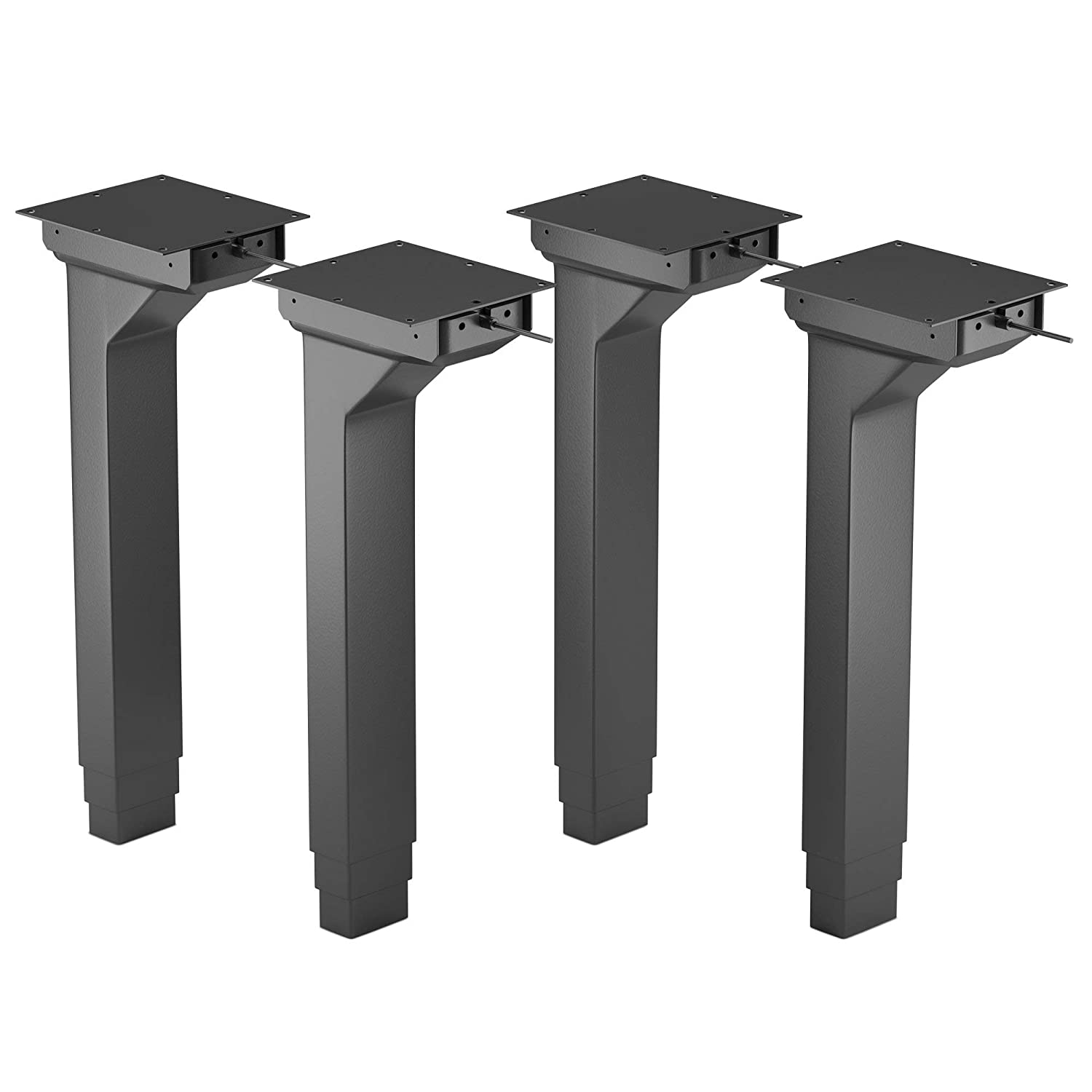Height Adjustable Four Leg Lifting Column Set - 24VDC | Brushed DC Motor | Height Range (23.5 to 49) | for Industrial, Home, Office Automation | FLT-04 Model