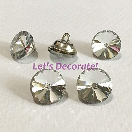 Ochoos 350PCS/LOT 14MM Satellite Crystal Glass Buttons for Cloth/Handbag Decorations. WXK14350