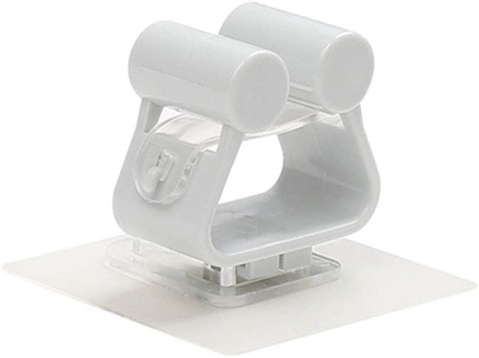 SKYHY224 Mop Hanger Holder Mounted Punching Home Organizer Seamless Wall Bathroom Kitchen Clip(Gray)