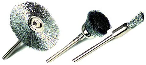 Tivoly xt20252000566 Mini Sanding Brushes, Set of 3 Pieces