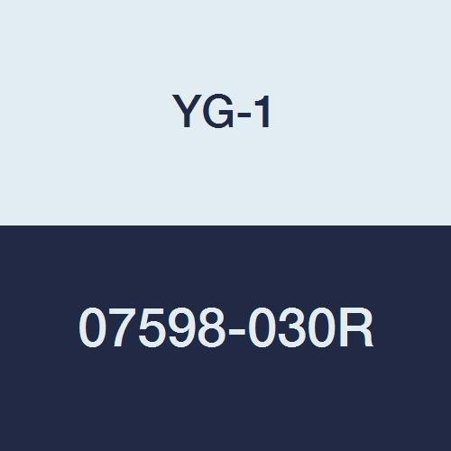 YG-1 07598-030R Carbide Corner Radius End Mill, 4 Flute, Regular Length, Uncoated Finish, 4