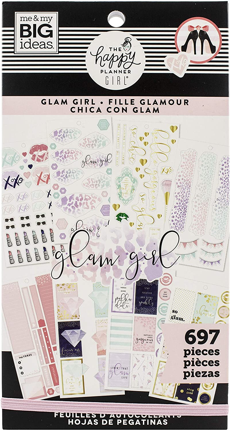 ME & MY BIG IDEAS Happy Planner STCKRS, Glam Girl, 697/Pkg