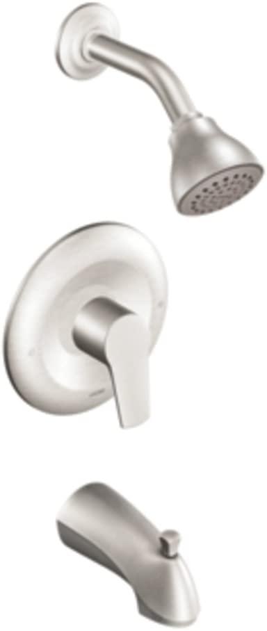 Moen T2803BN Method Posi-Temp Pressure Balancing Tub and Shower Trim Kit, Valve Required, Brushed Nickel